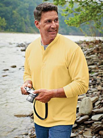 Scandia Woods Waffle-Knit Henley - Image 1 of 6