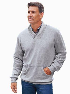 John Blair Fleece Shawl-Collar Sweatshirt
