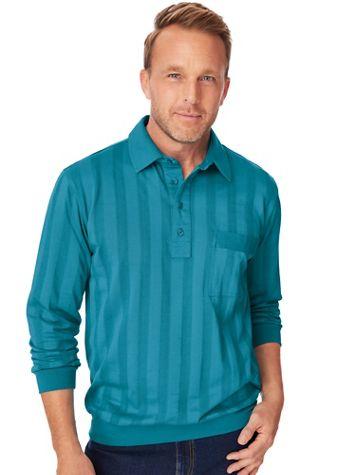 TropiCool® Long-Sleeve Tonal Polo Shirt - Image 1 of 4