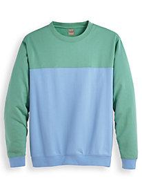 Scandia Woods Colorblock Fleece Sweatshirts by Blair
