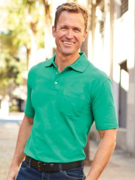 Scandia Woods Stain-Resistant Knit Polo