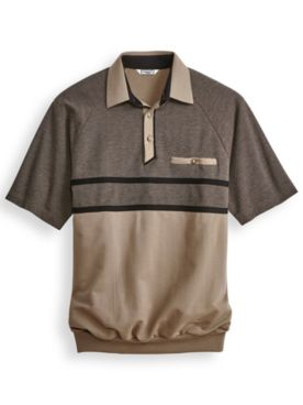 Palmland® Horizontal Textured Polo Shirt