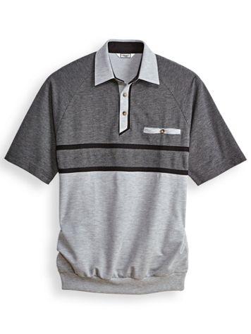 Palmland® Horizontal Textured Polo Shirt - Image 0 of 1