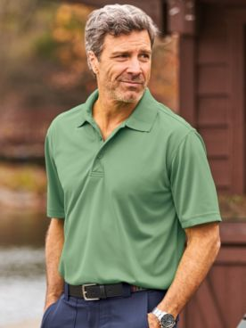 Scandia Woods Solid Stay-Cool Polo