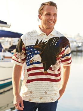 Flag and Eagle Polo