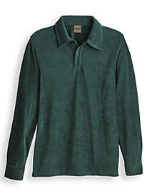 Scandia Woods Ribbed Velour Polo