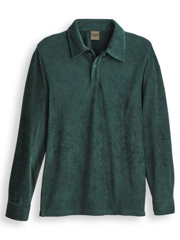 Scandia Woods Ribbed Velour Polo - Image 1 of 3