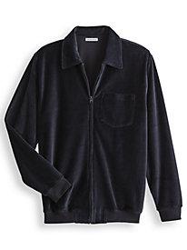 Irvine Park® Full-Zip Velour Shirt by Blair