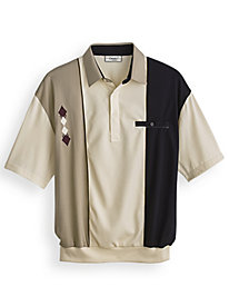 Palmland® Diamond-Embroidered Polo
