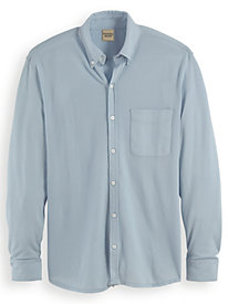 Scandia Woods Long-Sleeve Oxford-Like Knit Polo