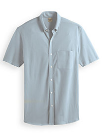Scandia Woods Short-Sleeve Oxford-Like Knit Shirt