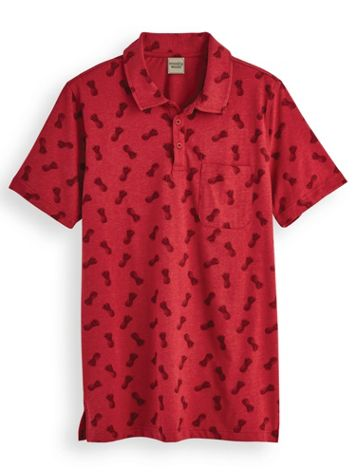Scandia Woods Printed Heather Polo