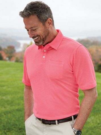 Scandia Woods Textured Easy-Care Polo