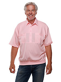 Palmland® Solid Two-Pocket Banded-Bottom Polo