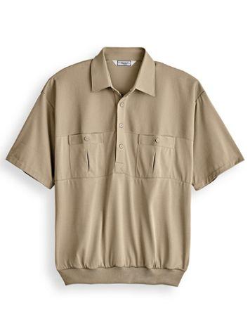 Palmland® Solid Two-Pocket Banded-Bottom Polo - Image 2 of 2