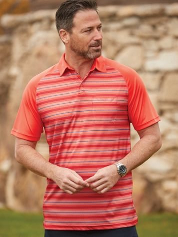 Scandia Woods Easy-Care Contrast-Stripe Polo - Image 1 of 4