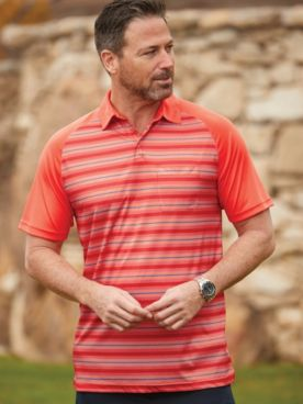 Scandia Woods Easy-Care Contrast-Stripe Polo