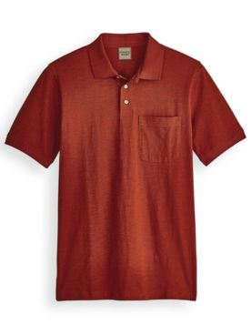 Scandia Woods Linen-Like Pocket Polo
