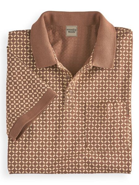 Retro Clothing for Men | Vintage Men's Fashion Scandia Woods Printed Pocket Polo $29.99 AT vintagedancer.com