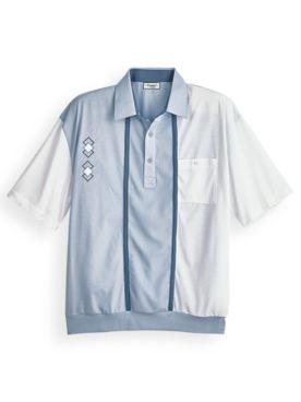 Palmland® Diamond Embroidered Polo