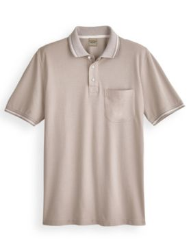 Scandia Woods Stripe-Collar Polo