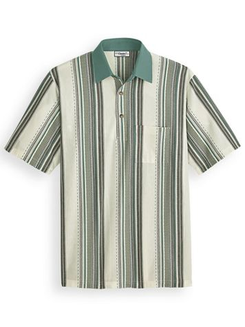 Palmland® Vertical Striped Polo - Image 1 of 4
