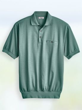 Palmland® Short-Sleeve Jacquard Polo