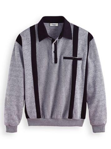 Palmland Banded-Bottom Contrast Stripe Polo Shirt