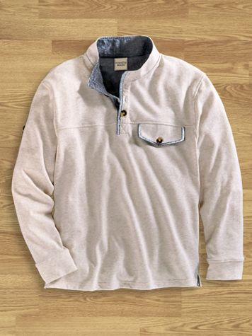 Scandia Woods Button-Mock Pullover - Image 0 of 1