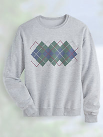 Argyle Band Fleece Sweatshirt
