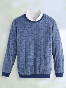 John Blair® Bouclé Fleece Crew