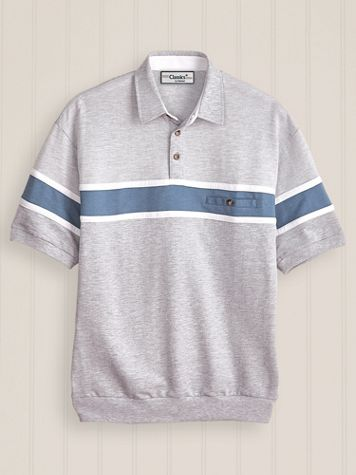 Palmland French Terry Horizontal Polo - Image 1 of 4
