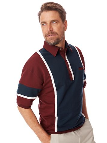Palmland® Colorblock French Terry Polo - Image 1 of 3