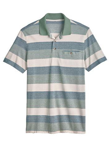 John Blair Easy-Care Stripe Polo - Image 1 of 3