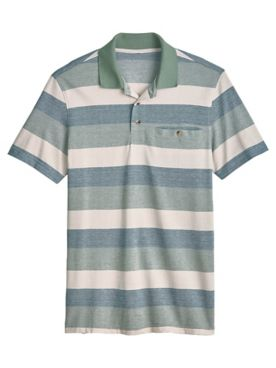 John Blair Easy-Care Stripe Polo