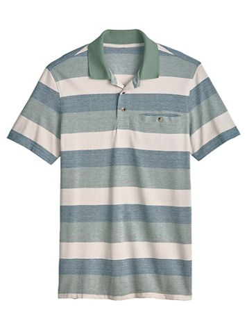 John Blair Easy-Care Stripe Polo - Image 0 of 1