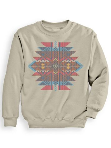 Signature Graphic Aztec Jacquard Sweatshirt - Image 1 of 3