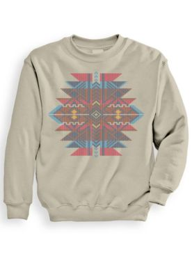 Signature Graphic Aztec Jacquard Sweatshirt