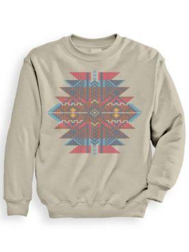 Signature Graphic Aztec Jacquard Sweatshirt
