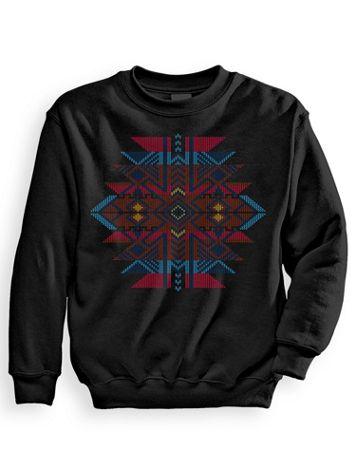 Signature Graphic Aztec Jacquard Sweatshirt - Image 2 of 2