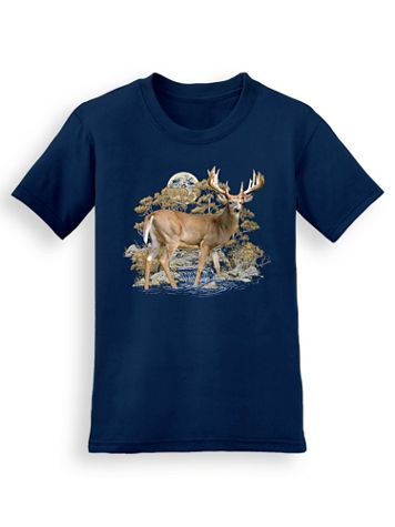 Signature Graphic Tee - Deer Moon - Image 1 of 4