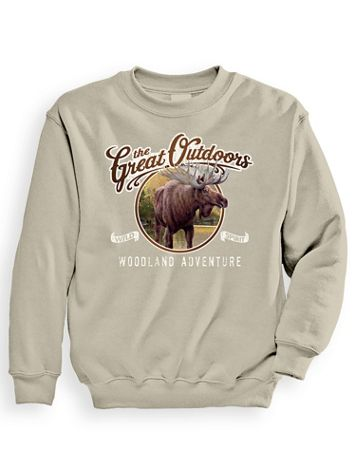Signature Graphic Sweatshirt - Adventure Moose - Image 1 of 4