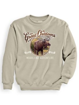 Signature Graphic Sweatshirt - Adventure Moose