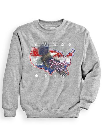 Signature Graphic Sweatshirt - Eagle America - Image 1 of 3