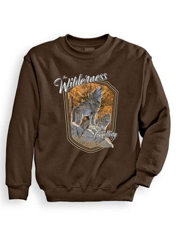 Signature Graphic Sweatshirt - Wilderness Calling - Image 1 of 3