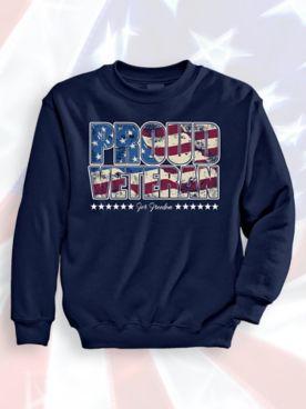 Signature Graphic Sweatshirt - Proud Veteran