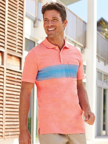 Scandia Woods Stripe Heather Polo - Image 1 of 5