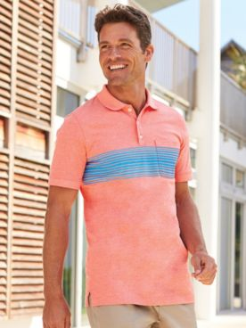 Scandia Woods Stripe Heather Polo