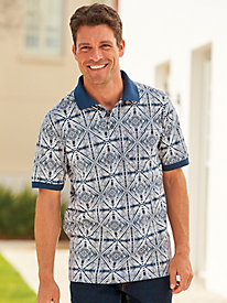 Scandia Woods Print Pocket Polo