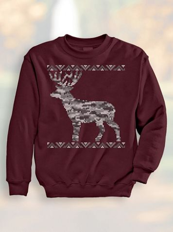 Jacquard Deer Sweatshirt - Image 1 of 5